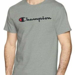 Champion Men's Classic Script Shirt Oxford Grey